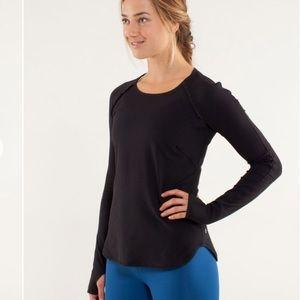 Lululemon Runder Under Long Sleeve Black Shirt 8